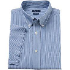 """2730130_Blue_Stripe%3Fwid%3D800%26hei%3D800%26op_sharpen%3D1 Best Deal """"Men's Croft & Barrow ButtonDown Collar Dress Shirt"""