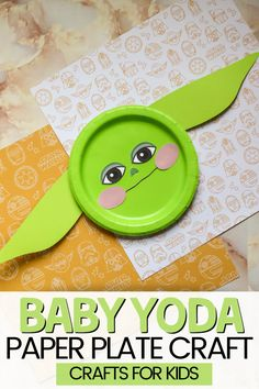 Do your kids love crafts? If your kids love Star Wars and crafts, they will love this easy Baby Yoda Paper Plate Craft. You only need a few supplies and a few minutes and you'll have your very own Baby Yoda! I know he is one of my favorite characters and this craft is one of my new favorites! If you're looking for a simple and fun Star Wars activity for the kids, you're going to love this one! Click here to see the supplies needed for Baby Yoda Craft! Paper Plate Crafts For Kids, Easy Crafts For Kids, Crafts To Make, Arts And Crafts, Multicultural Crafts, Monster Crafts, Preschool Art Activities, Kid Movies, Disney Crafts