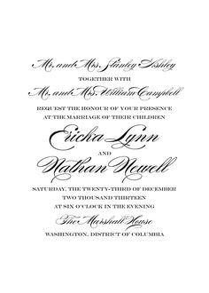 Traditional Wedding Invitation Wording | Refer Wedding