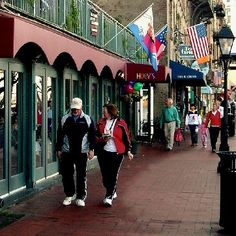 Walk down River Street...Savannah, Georgia