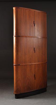 Rosewood Corner Cabinet, Denmark, 1960s. Http://