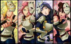 ANBU Girls ♥♥♥ Ino, Sakura, Hinata, TenTen ♥  #Beautiful #Sexy