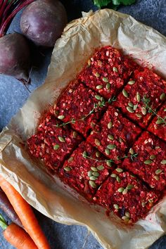 Savoury Beetroot, Carrot and Oat Bake (gluten-free & vegan) - Nirvana Cakery