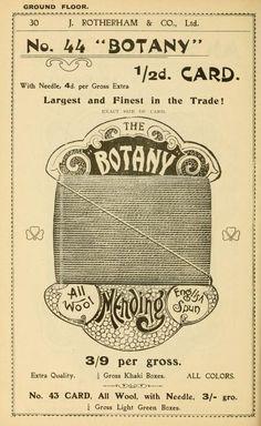 General price list - vintage sewing thread card