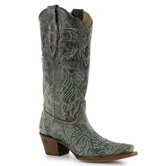 Corral Women's Cross & Crystals Snip Toe Western Boots