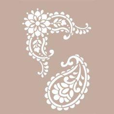 Vendita online stencil to-do paisley Paisley Stencil, Motif Paisley, Wall Stencil Patterns, Stencil Art, Stenciling, Lily Flower Tattoos, Painted Hats, Linoleum Block Printing, Block Painting