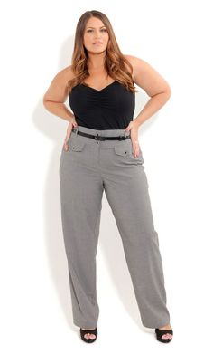 Plus Size Girl Talk High Waist Pants - City Chic - City Chic