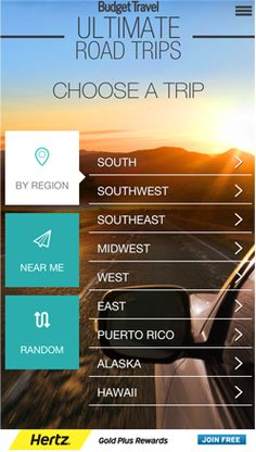 Spice up your next road trip adventure with our new, free app, Budget Travel Ultimate Road Trips! Select a trip by region (or based on your current location) and discover our favorite hotels, restaurants, and must-see spots along the way. Available on the App Store and coming soon to Android.