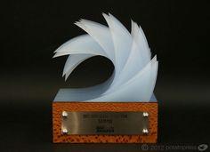 Potato Press - Trophy  http://potatopress.com.au/blog/design-photography/australian-surf-retailers-awards/
