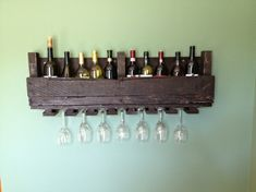 Wine storage ideas DIY wooden pallets furniture creative designs