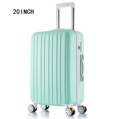 """20 inch New surface like sandpaper stripes trolley suitcase/ 20"""" boarding luggage/10Colors universal wheels trolley candy"""