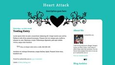 Blogger Candy - Free Blogger + Blogspot templates: Heart Attack - free XML blogger template