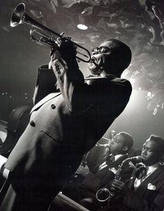 Dizzy Gillespie 1948 Diahann Carroll, John Lee Hooker, Jazz Artists, Jazz Musicians, Ella Fitzgerald, Louis Armstrong, Miles Davis, Billie Holiday, Dubstep