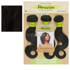 Mon Apr 17, 2017 - #8: Bare & Natural Peruvian Body Wave 3PCS 10S Short 3PCS - Color NAT BLK - Unprocessed Weaving