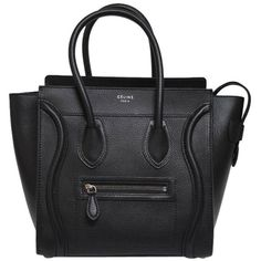 Pre-owned Black Leather Celine Tote ($3,798) ❤ liked on Polyvore featuring bags, handbags, tote bags, purses, black, celine tote bag, leather tote handbags, handbags totes, man bag and leather hand bags