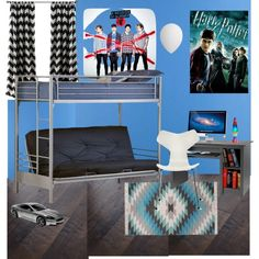 From boys to men by vonda-brooks on Polyvore featuring interior, interiors, interior design, home, home decor, interior decorating, Prepac, Designers Guild, Hillsdale Furniture and A.B.Gee
