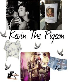 """""""Kevin The pigeon"""" by loveeleanor ❤ liked on Polyvore"""