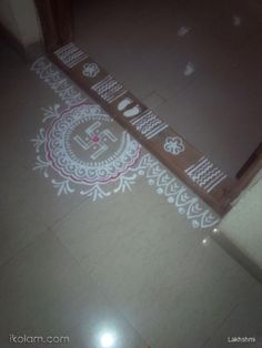 Rangoli Side Designs, Simple Rangoli Border Designs, Free Hand Rangoli Design, Small Rangoli Design, Rangoli Patterns, Rangoli Ideas, Rangoli Designs Diwali, Rangoli Designs With Dots, Boarder Designs