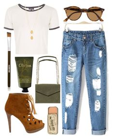 """Tea"" by queenb83 ❤ liked on Polyvore featuring Stuart Weitzman, Topshop, Ray-Ban, Jennifer Zeuner, Scotch & Soda, Olivina and Claudio Riaz"