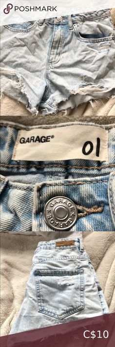 Garage mom jean distressed shorts Light wash garage high rise shorts. Broken zipper but it's an easy fix. Asking $10 Garage Shorts Jean Shorts Broken Zipper, High Rise Shorts, Distressed Shorts, Jean Shorts, Mom Jeans, Garage, Plus Fashion, Easy, Pants