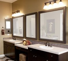 matching mirror with tiles for nice effect