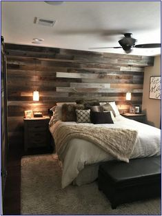 15 Small Master Bedroom Ideas for Couples Decor - All About Decoration Rustic Master Bedroom, Master Bedroom Makeover, Small Room Bedroom, Master Bedroom Design, Home Decor Bedroom, Modern Bedroom, Small Rooms, Contemporary Bedroom, Bedroom Furniture