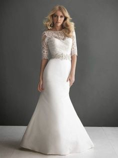 If wedding dress is in cold weather... Lace Wedding Dress with Sleeves - Wedding Diary