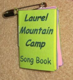 Camp Song Book Swap   Girl Scout Swaps Ideas
