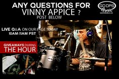WIN SIGNED STICKS POSTERS AND T-SHIRTS RIGHT NOW ON OUR FACEBOOK PAGE! #Vinnyappice #drummers #drums #drummer