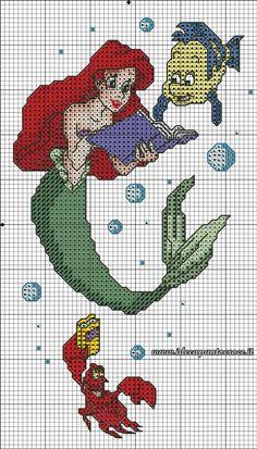 Little mermaid cross stitch 6-6                                                                                                                                                                                 More
