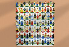 This is AWESOME! Lego Wall Display Shelf - Brick Rack Model 7 - can display up to 175 Lego Minifigures Lego Minifigure Display, Lego Wall, Awesome Lego, Lego Stuff, Display Shelves, Lego Sets, Legos, Playroom, Organize