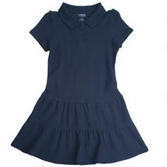 Ruffled Pique Polo Dress Girls 7-14 - French Toast School Uniforms