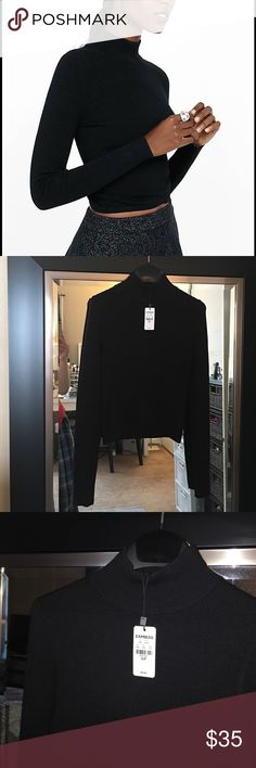 Express Mock Neck Cropped Sweater Super soft Express Tops Crop Tops