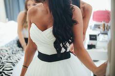 Black & White Heart Wedding Dress for Contemporary Bride www.weddinglam.it