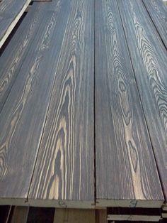 Доска пола лиственница текстурированная, цвет - горький шоколад