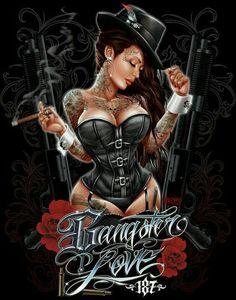 Gangsta Love * Chicano by Gangsta Girl, Gangsta Lovin, Gangster Love, Gangster Wedding, Arte Lowrider, Aztecas Art, Brown Pride, Chicano Art, Cholo Art