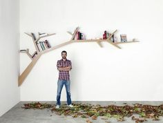 I think tree branch bookshelves might be my new obsession. If only I could DIY one.