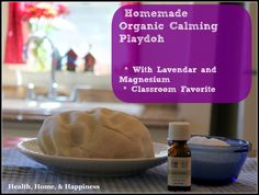 If you are asked to bring in play-doh for the whole class, teachers always love homemade because it lasts longer and crumbles less.  Don't be surprised to find yourself or other adults playing with this as well- the texture, scent, and natural ingredients draw everyone to play and evaporate stress.