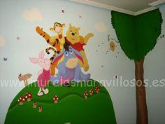Pintura infantil  de cuartos y habitaciones  con murales sobre paredes lisas y en gotelé