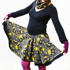 Learn how to sew a circle skirt in one or two layers to your body measurements, with hemming options and even a matching accessory! Burp Cloth Patterns, Sewing Patterns Free, Free Sewing, Clothing Patterns, Free Pattern, Sewing Lessons, Sewing Hacks, Invisible Stitch, Fabric Butterfly