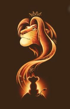 O rei leão Disney Fan Art, Disney Love, Disney Magic, Walt Disney, Baby Tattoos, King Tattoos, Love Tattoos, Le Roi Lion Disney, Disney Lion King