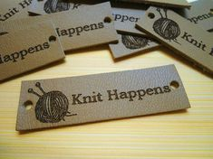 Personalized Leather Labels Leather Labels Knitting Label