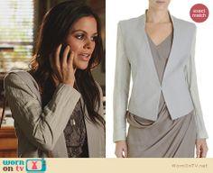 Zoe's grey jacket on Hart of Dixie. Outfit Details: http://wornontv.net/22873 #HartofDixie