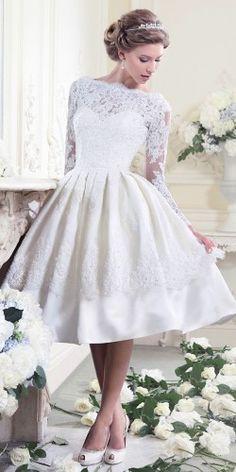 tea length wedding gowns 2