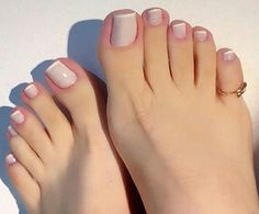 Pretty Toe Nails, Sexy Nails, Sexy Toes, Pretty Toes, Fun Nails, French Pedicure, Manicure E Pedicure, French Nails, Pedicures