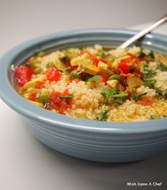 Couscous Paella Soup...quick and easy and did I mention it's healthy??