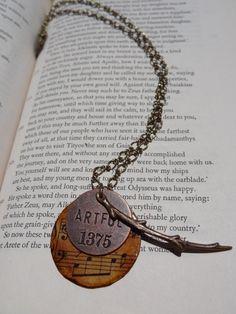 Layered Music pendant by PastandthePendulum on Etsy, $20.00