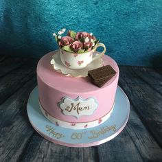 Afternoon tea and a Bourbon biscuit  by Meme's Cakes