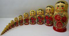 VERY LARGE Vintage Set of 16 Russian Semenov Nesting Matryoshka Dolls on Etsy, $299.00