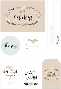 Oh So Lovely Blog: FREE PRINTABLE HOLIDAY GIFT TAGS